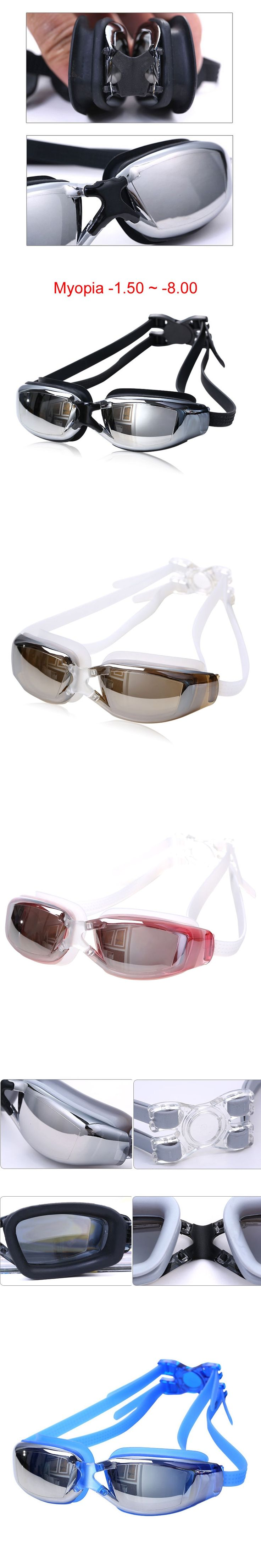 Adult Professional myopia Swimming goggles men arena diopter Swim Eyewear anti fog swimming glasses natacion water glasses
