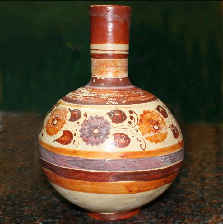 Mexican pottery water jar