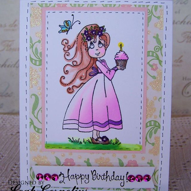 @leahcornelius their lovely hand made Happy Birthday card, coloured in using the Chameleon Pens.