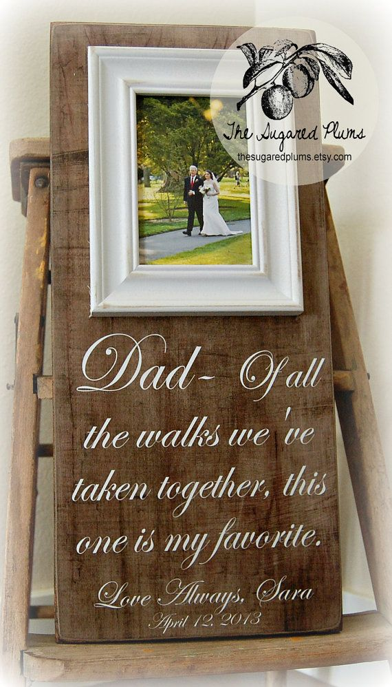 Father Of The Bride Wedding Gift Personalized Picture Frame Custom 8x20 All Walks Anniversary Love Mother Song Vows Thank You