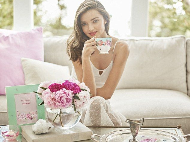 Miranda certainly showcases the results of her healthy lifestyle as she poses in a series of stunning snaps to promote her elegant new range of wine glasses, tumblers, champagne flutes and a pitcher, to build on her existing teaware range with iconic British brand, Royal Albert