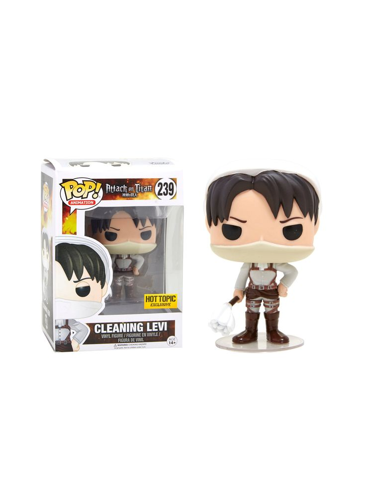 Funko Attack On Titan Pop! Animation Cleaning Levi Vinyl Figure Hot Topic Exclusive | Hot Topic