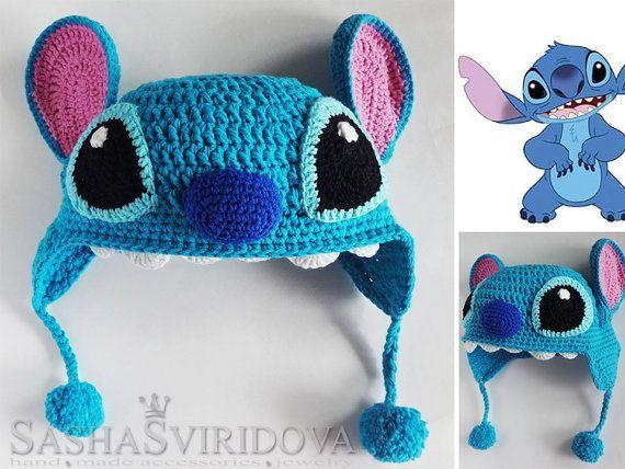 Crochet Baby Hats crochet baby hat Lilo & Stitch