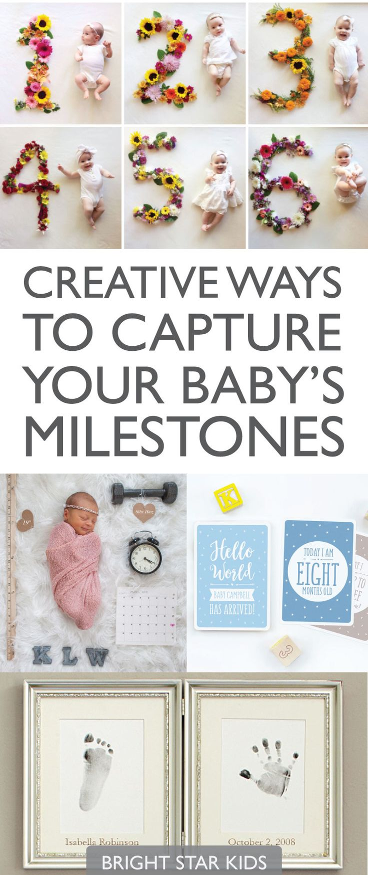 Creative ways to capture your baby's milestones // photoshoots and personalised keepsakes