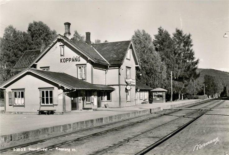 Hedmark fylke Østerdalen Stor-Elvdal kommune Koppang stasjon.1950-tallet utg Normann
