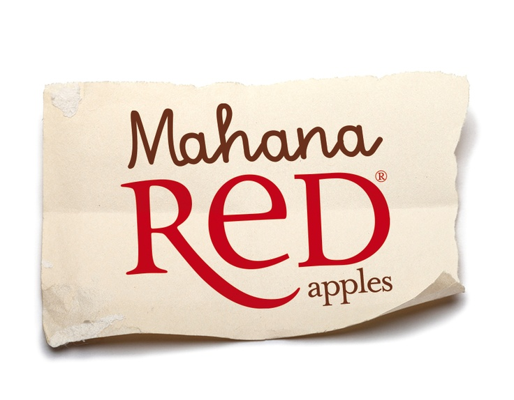 Mahana Red® apple logo, developed by design agency Tenfold Creative, owned by Freshmax New Zealand.