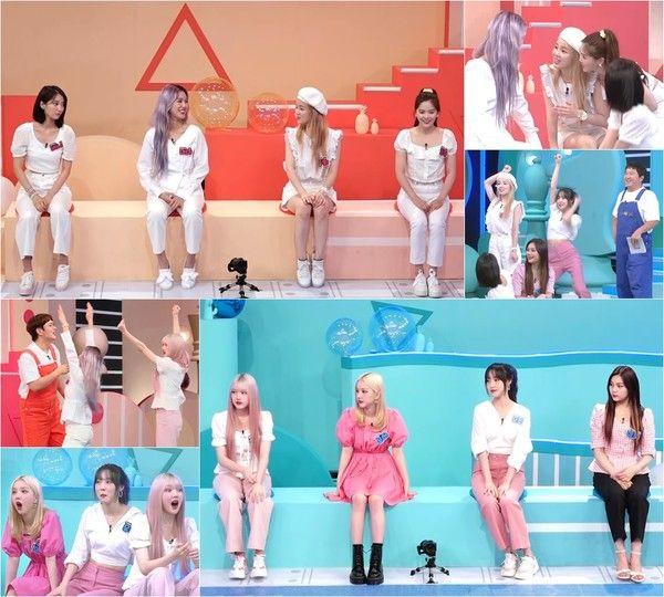 Idol On The Quiz Oh My Female Girlfriend K Pop Female Team Unstoppable Quiz Massive Clash Girls Technology Kpop Kpop Girls