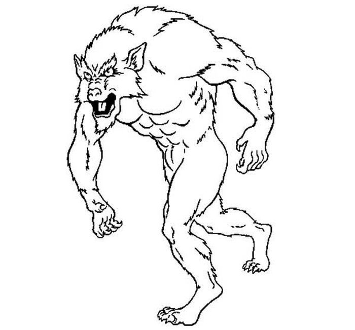Coloring Pages Scary Werewolf Werewolf Coloring Pages Drawings
