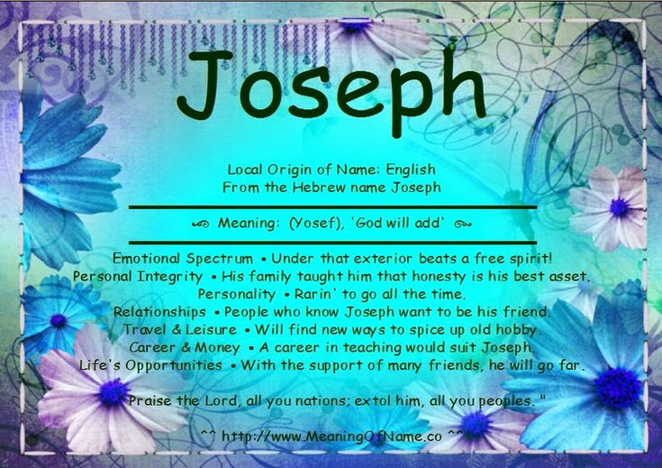Joseph - Meaning of Name