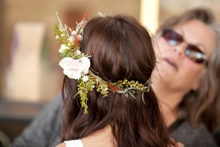 Flower wreath... love how it tapers on the ends