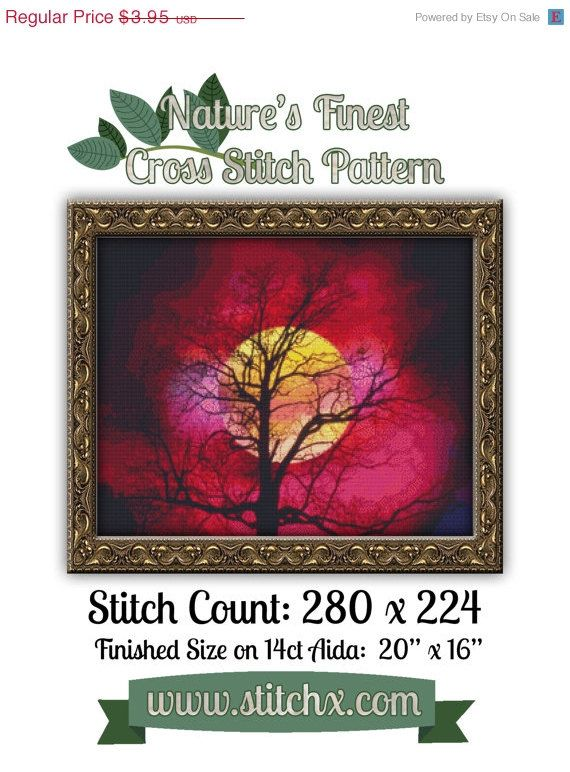 ON SALE  Limited Time Nature's Finest Cross by StitchXCrossStitch