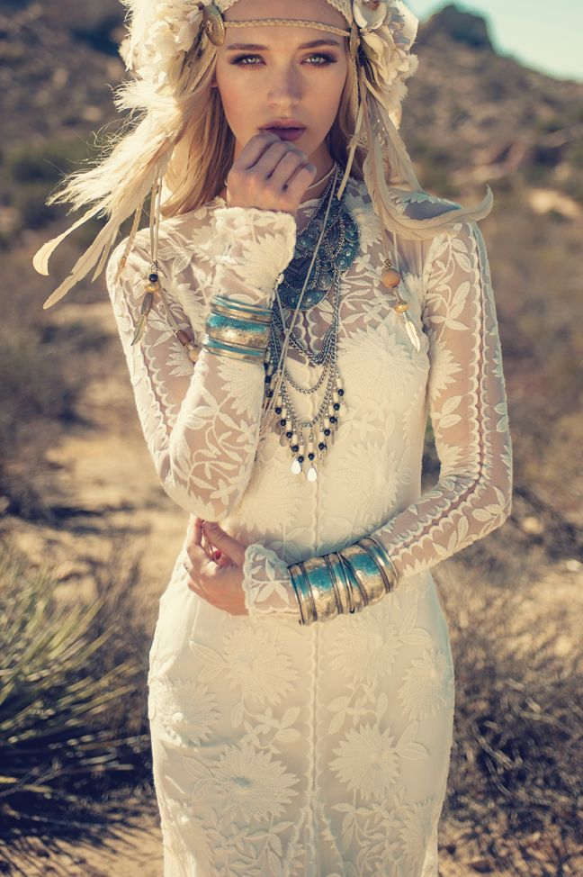 Rue De Seine LA desert campaign. Chloe Dress from the Young Love Collection