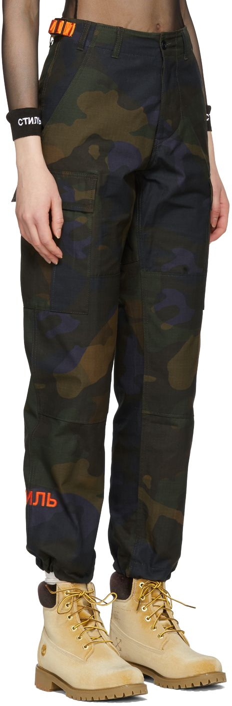 Heron Preston - Green 'CTNMB' Camo Cargo Trousers