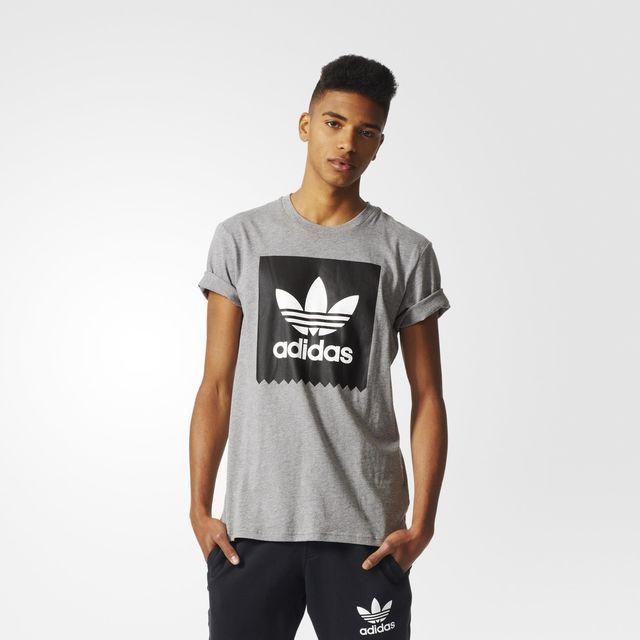adidas Solid Logo Fill Tee - Grey | adidas UK