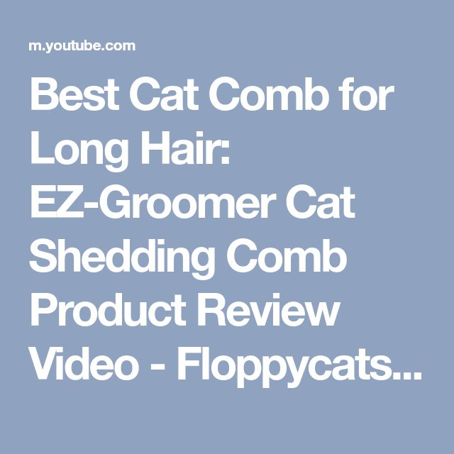 Best Cat Comb for Long Hair: EZ-Groomer Cat Shedding Comb Product Review Video - Floppycats - YouTube