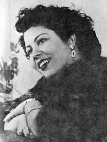 Marika Ninou (Greek: Μαρίκα Νίνου) (1918 – 23 February 1957), was an Armenian-Greek rebetiko singer, born Evangelia Atamian.Ninou possessed a high-pitched voice of substantial body and volume and impeccable tonality, and sang with emotional intensity. She recorded a total of 174 songs, of which 119 as lead singer.  The movie Rembetiko by Costas Ferris is based on her life.