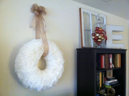 Coffee Filter wreath. Love the idea. But I would use the tanish filters with a blue or brown  ribbon.