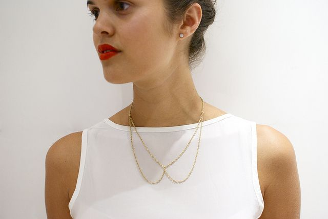 DIY CHAIN COLLAR NECKLACE: Collar Necklace, Peter Pan Collars, Chain Necklaces, Diy Necklace, Chains