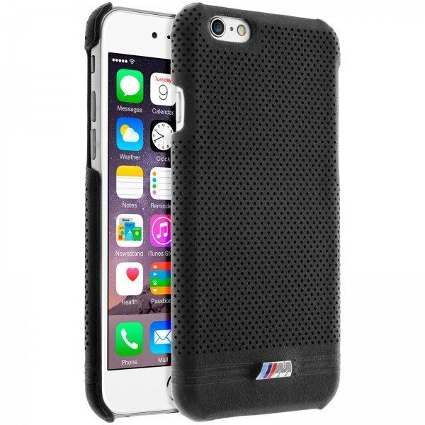 Coque BMW Adrenaline Perforated noir pour Apple iPhone 6/6S