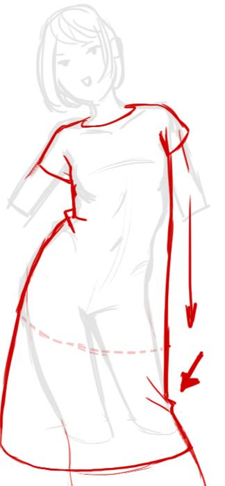 tutorial how to draw folds in clothing