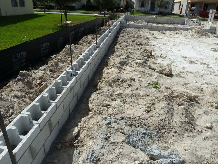 17 best images about foundations on pinterest the depths for Block wall foundation