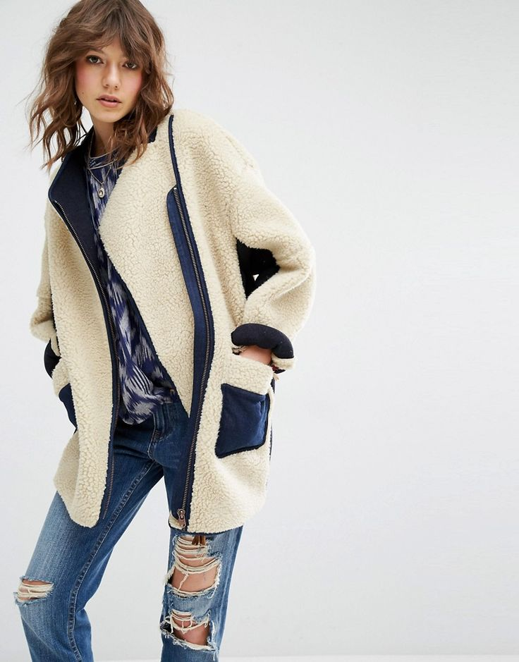 Image 1 of Maison Scotch Teddy Cocoon Coat