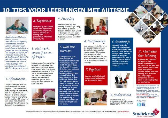 Huiswerktips voor kinderen met autisme