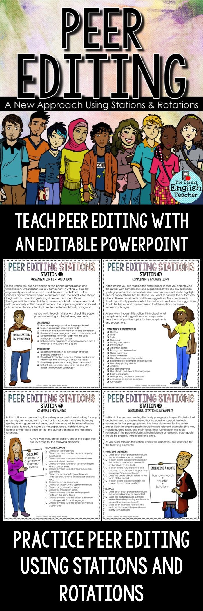 17 best images about essay mini lessons for middle school and high peer editing stations and rotations