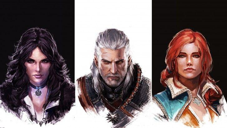 Download Witcher 3 Wild Hunt Yennefer Geralt Triss Merigold Art 2560x1440
