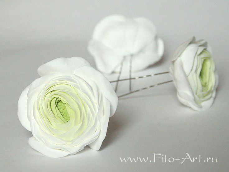 Свадьба : Белый лютик на шпильке - Fito Art
