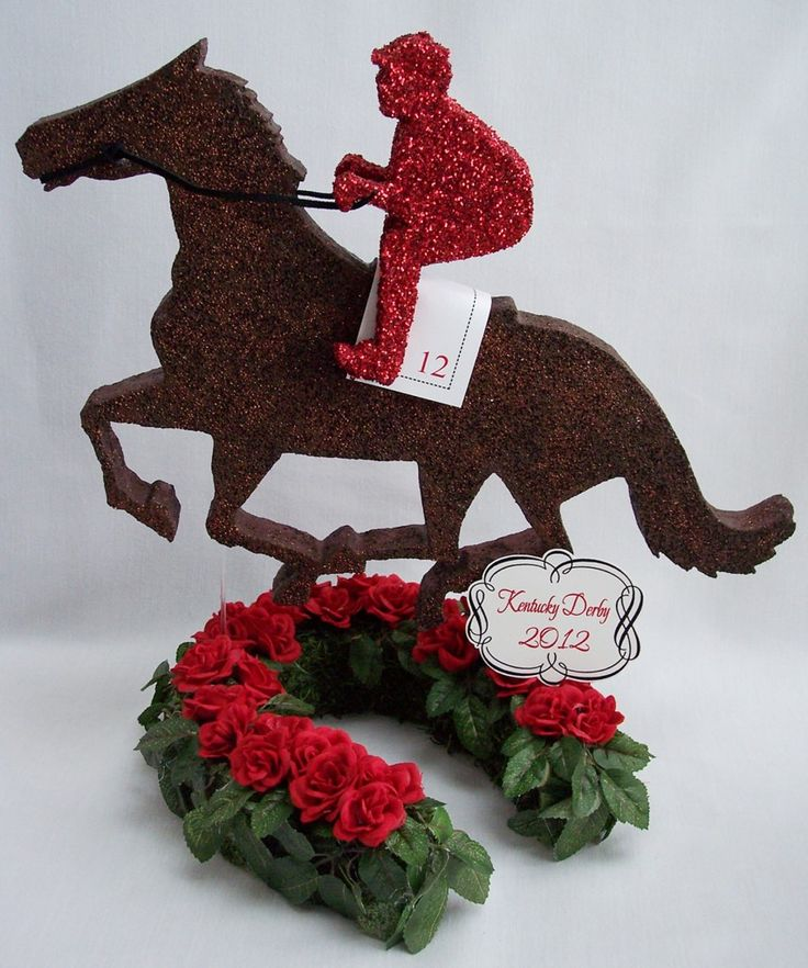 Kentucky derby themed centerpieces party ideas