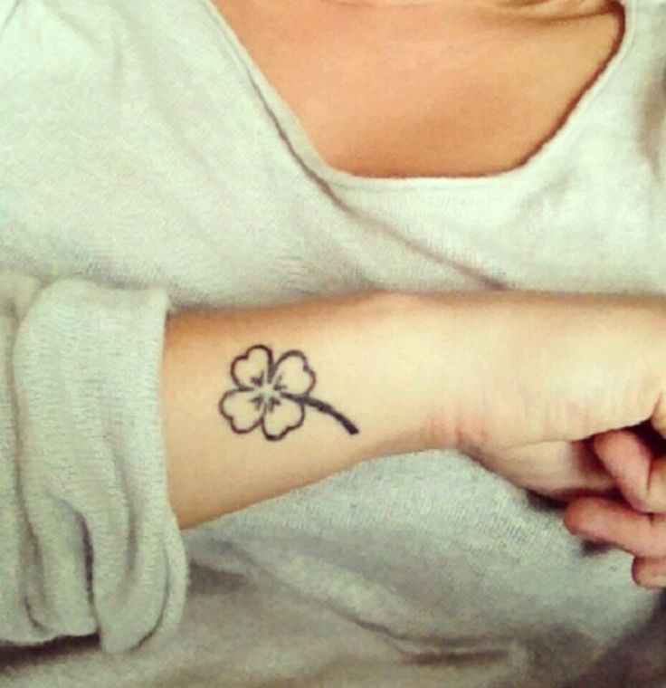 Four leaf clover tattoo