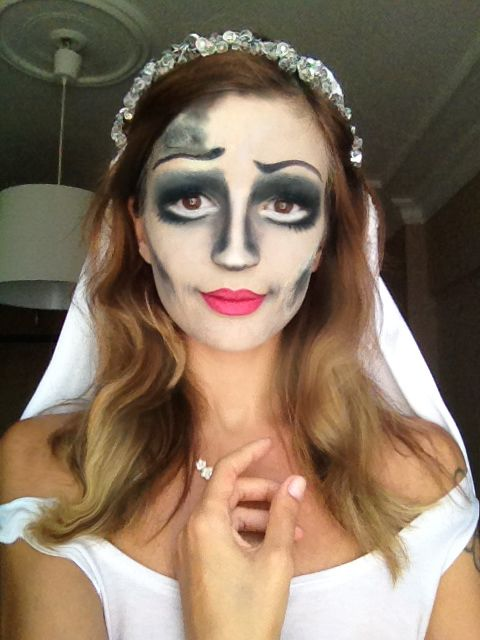 Corpse Bride /  this is me trying the corps bride makeup