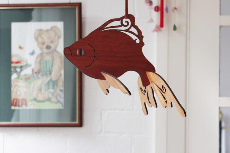 Laser-Cut Goldfish Baby Mobile