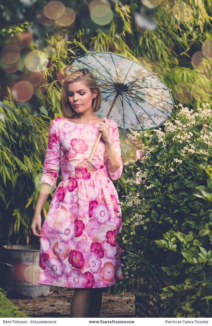 Nest Clothing linen watercolour bow dress, Photography by Tanya Viljoen