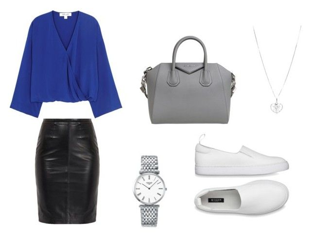 """Business lunch"" by kkerstinolsson on Polyvore featuring Diane Von Furstenberg, Givenchy and Longines"