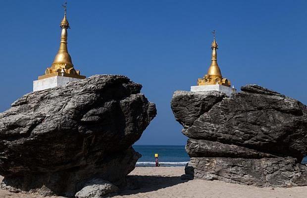 Photos: Pristine Burmese beach boasts beautiful bungalows, no tourists