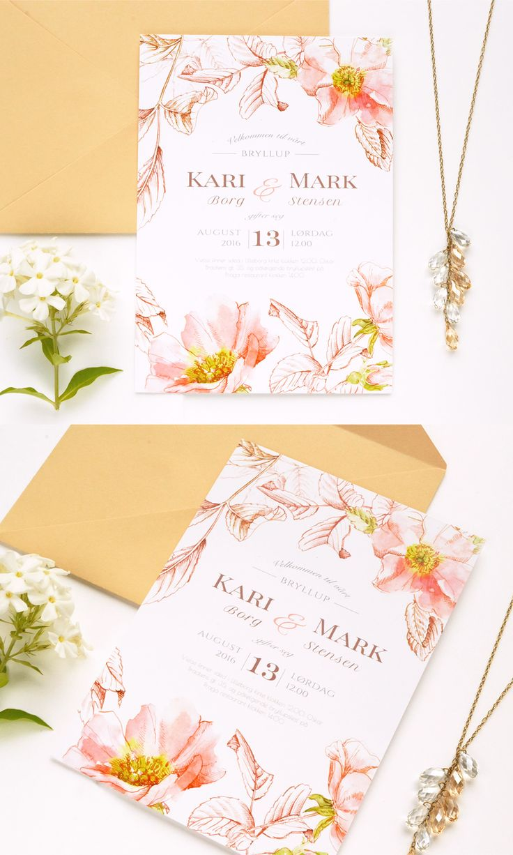 The 24 best Watercolors in Love Wedding Invitations images on ...