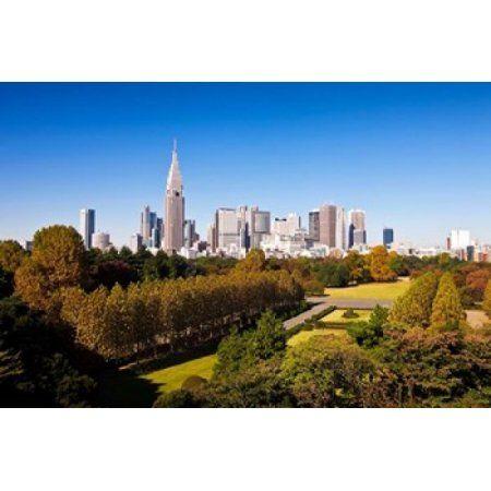 Japan Tokyo Shinjuku District Shinjuku Gyoen Garden Canvas Art - Prisma Archivo DanitaDelimont (26 x 17)