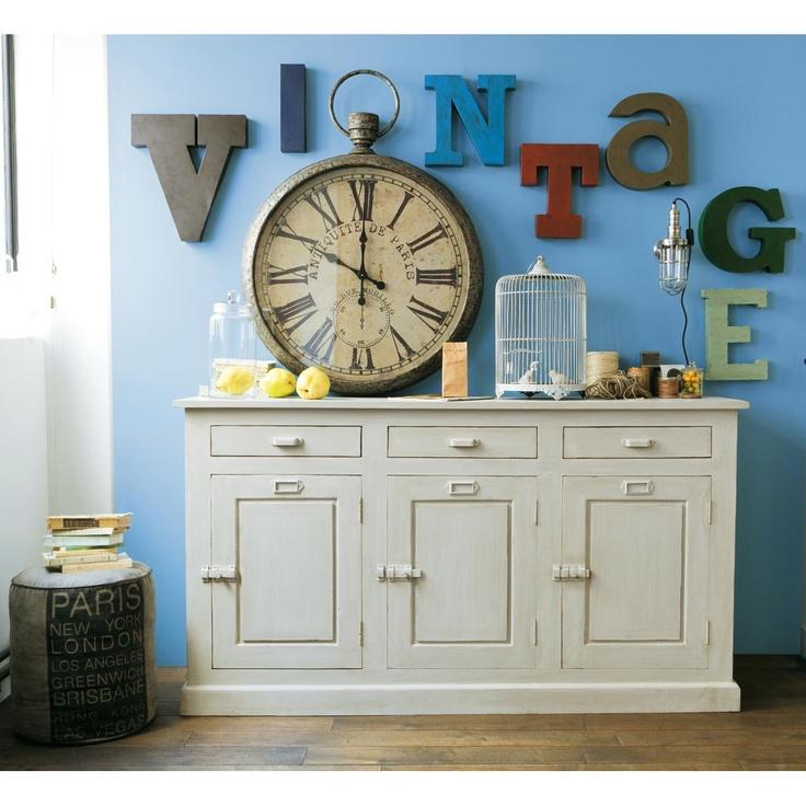 horloge gousset fergus maisons du monde industriel pinterest gousset horloge et maison. Black Bedroom Furniture Sets. Home Design Ideas