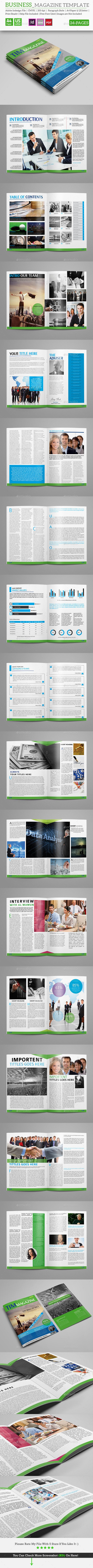 Business Magazine 34 Pages Template #design Download: http://graphicriver.net/item/business-magazine-template_34-pages/12506993?ref=ksioks