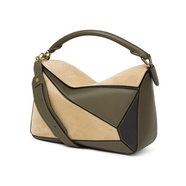 567ba8652308 LOEWE Puzzle Bag Gold Military Green Black ( 2