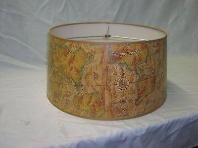 old world map drum lamp shade 18 wide jan levin pinterest world. Black Bedroom Furniture Sets. Home Design Ideas