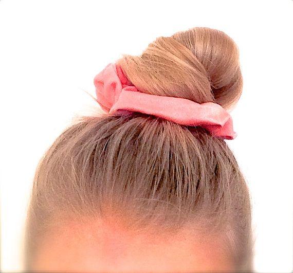 Scrunchie Hair elastic. Colour : Peach Pink by ChouchouScrunchie