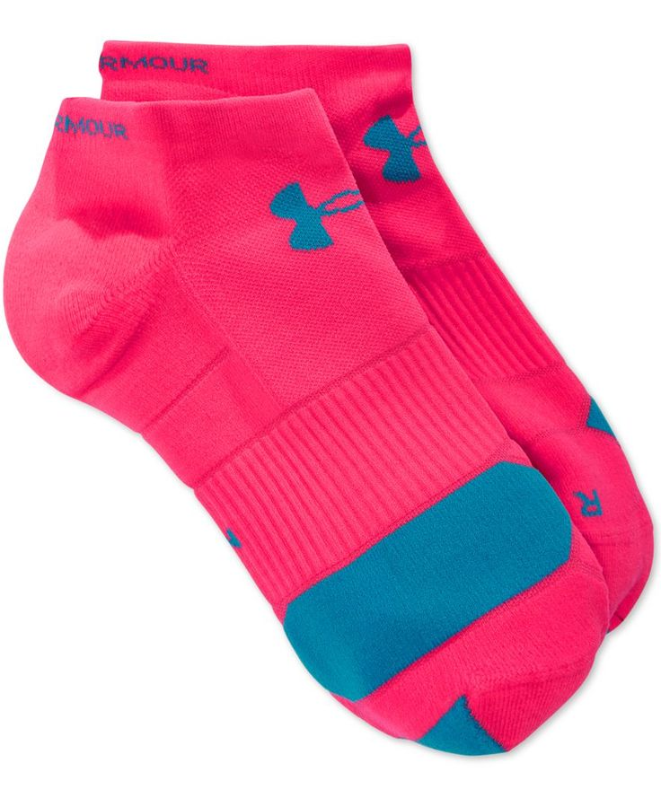 Power through your workout with the unstoppable comfort of Under Armour's no-show running socks, designed in a moisture-wicking fabric with odor-blocking properties and a true left-right fit. | Nylon/