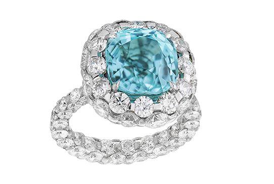 Boghossian Les Merveilles wing with diamonds and paraiba tourmaline