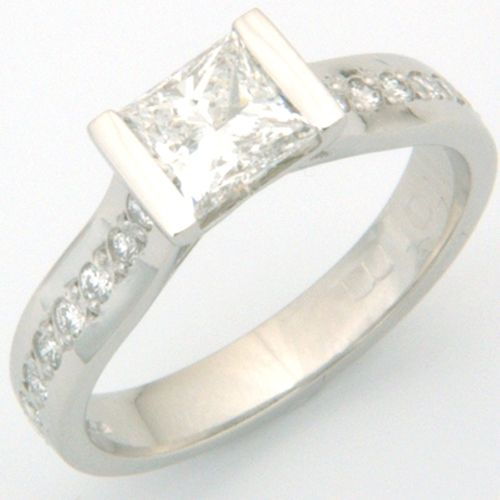 1000 images about Princess & Cushion Cut Engagement Rings on Pinterest