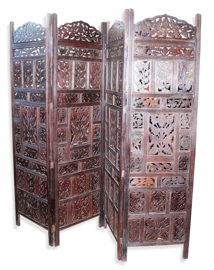 4 Panel Carved Indian Screen General Homewares, Homewares