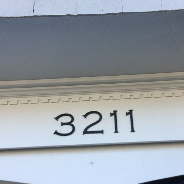 Large Brush Script Cursive House Numbers House Numbers Brush Script Cursive