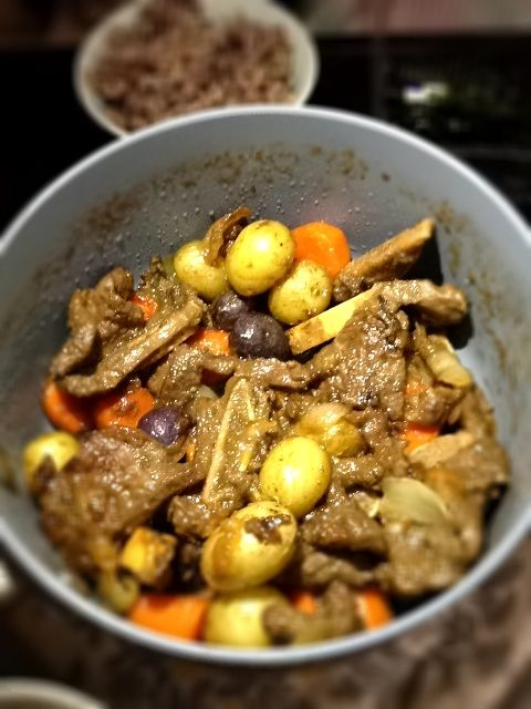 galbi jjim (korean beef stew) my mom's recipe~~ :D